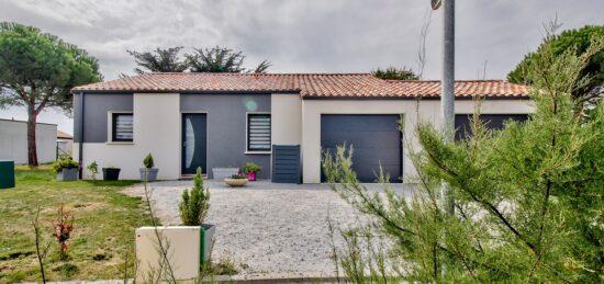 Maison contemporaine plain-pied de 114 m² à Saint Gilles Croix de Vie (85)