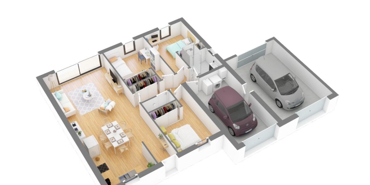 plan axo maison traditionnelle