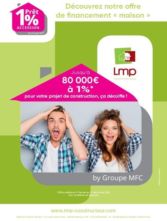 Le prêt 1% accession peut monter jusqu'à 80000 €