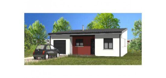 Plan de maison Surface terrain 72 m2 - 3 pièces - 2  chambres -  avec garage