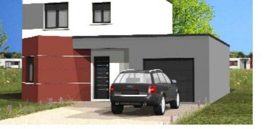 Plan de maison Surface terrain 91 m2 - 5 pièces - 4  chambres -  avec garage