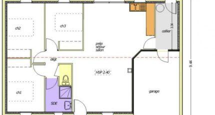 Avant-projet La Roche Sur Yon  79m² - 3 chambres 2483-255359_open-plain-pied-3-chambres.jpg - LMP Constructeur