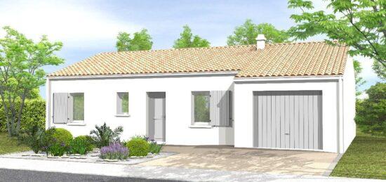 Plan de maison Surface terrain 79 m2 - 5 pièces - 3  chambres -  avec garage