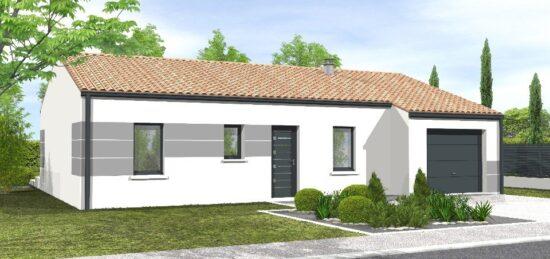 Plan de maison Surface terrain 79 m2 - 5 pièces - 4  chambres -  avec garage