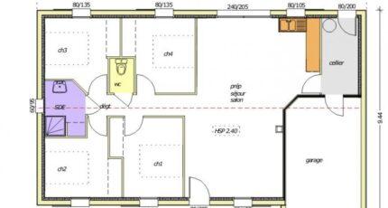 Avant-projet MONTAIGU - 90 m² - 4 chambres 2481-255339_open-plain-pied-4-chambres.jpg - LMP Constructeur