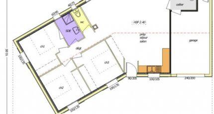 Avant-Projet NALLIERS - 85 m² - 3 chambres 2474-255242_3-chambres--garage-integre-facade-d.jpg - LMP Constructeur