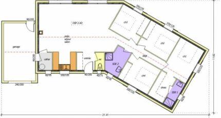 Avant projet Chantonnay  110 m² -4 chambres 2473-255232_4-chambres-garage-integre-pignon-g.jpg - LMP Constructeur