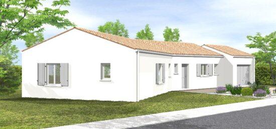 Plan de maison Surface terrain 83 m2 - 5 pièces - 3  chambres -  avec garage