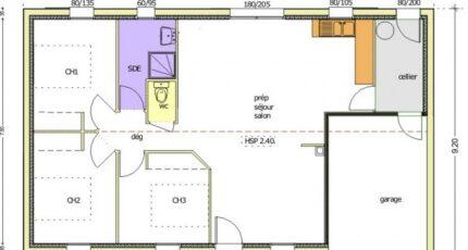 Avant-Projet AIZENAY  81 m² - 3 chambres 2466-255082_bergerac-3-ch-garage-a-droite.jpg - LMP Constructeur