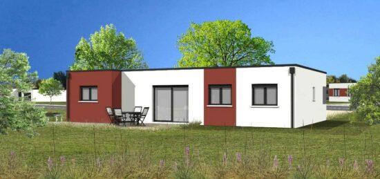 Plan de maison Surface terrain 83 m2 - 4 pièces - 3  chambres -  avec garage
