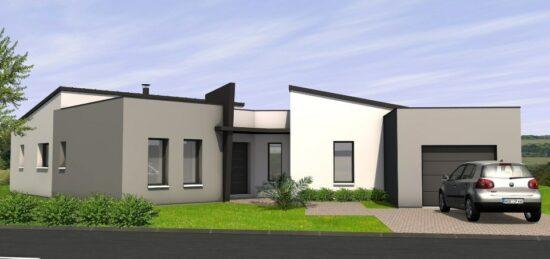 Plan de maison Surface terrain 130 m2 - 6 pièces - 4  chambres -  avec garage