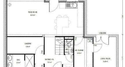 Avant-Projet CLOUZEAUX - 110 m² - 3 chambres 3803-3430modele620140818SPLaz.jpeg - LMP Constructeur