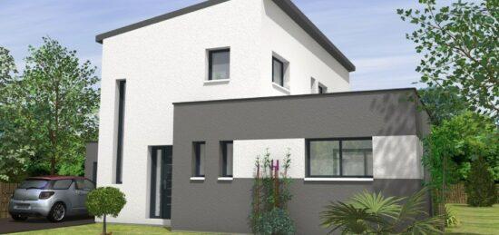Plan de maison Surface terrain 130 m2 - 5 pièces - 4  chambres -  avec garage