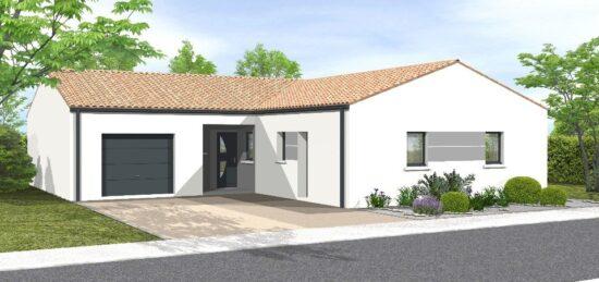 Plan de maison Surface terrain 106 m2 - 5 pièces - 3  chambres -  avec garage