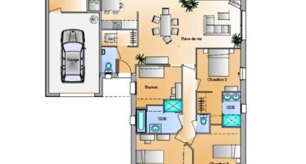 Avant-Projet Rosnay 3 Chambres + 1 bureau 4255-1906modele820141124g157n.jpeg - LMP Constructeur