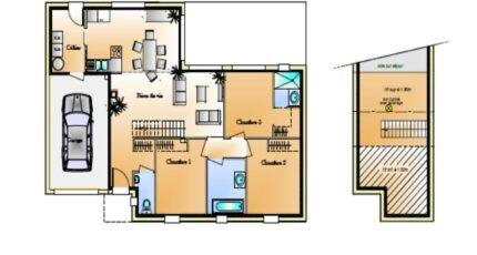 Avant projet Coex - 3 chambre + 1 bureau - 96m² 4622-1906modele820150326VyytQ.jpeg - LMP Constructeur