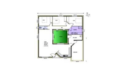 Avant projet Charron - 4 chambres - 107m² 4620-3815modele620150901sDR7a.jpeg - LMP Constructeur