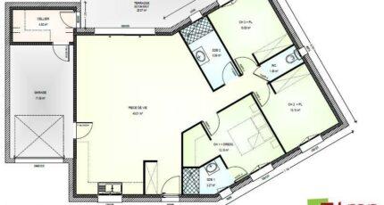 Avant Projet Falleron 90 m² - 3 Chambres 5951-1906modele820160912PQPGb.jpeg - LMP Constructeur
