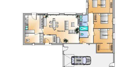 Avant projet Les Herbiers - 2 chambres + 1 bureau 15644-1906modele820180928qL7qN.jpeg - LMP Constructeur