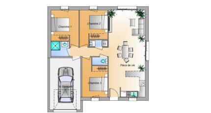 Avant projet La Rabateliére - 3 chambres 16641-1906modele820181109UokOX.jpeg - LMP Constructeur