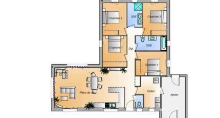 Avant projet La Faute Sur Mer - 4 chambres 16589-1906modele820181107q7os3.jpeg - LMP Constructeur