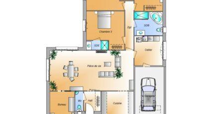 Avant projet Lairoux - 3 chambres 16584-1906modele820181107D9yfv.jpeg - LMP Constructeur