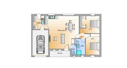 Avant projet Landevieille 80m² 2 chambres 17436-1906modele920181211Z9S9D.jpeg - LMP Constructeur