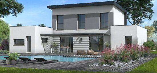 Plan de maison Surface terrain 115 m2 - 7 pièces - 4  chambres -  avec garage